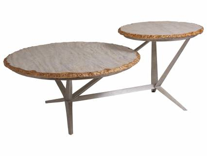 Cosmos Tiered Round Cocktail Table