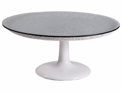 Seascape Round White Cocktail Table