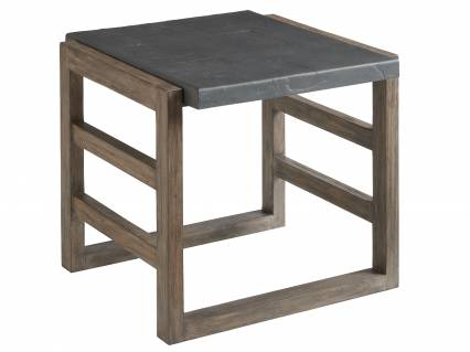 Cast Top Rectangular End Table