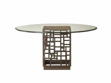 South Sea Dining Table With Glass Top