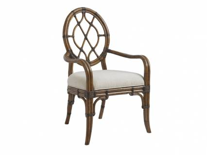 Cedar Key Oval Back Arm Chair