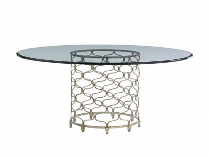 Bollinger Round Dining Table With Glass Top