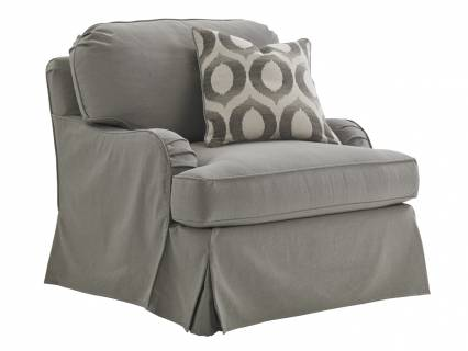 Stowe Slipcover Chair-Gray