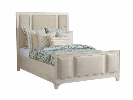 Crystal Cove Upholstered Panel Bed