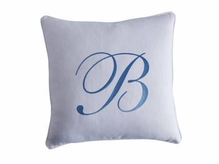 Monogram Signature Pillow - White