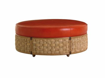 St. Barts Leather Ottoman