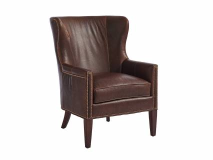 Avery Leather Wing Chair